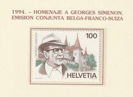 Switzerland Helvetia 1994, Simenon 1v MNH Mi 1535 - Ungebraucht