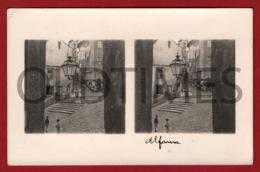 PORTUGAL - LISBOA - ALFAMA - ESCADINHAS DE S. MIGUEL - 1930 STERO REAL PHOTO PC - Cartes Stéréoscopiques