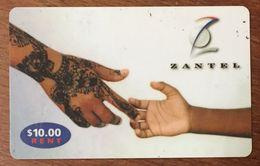 TANZANIE ZANZIBAR ZANTEL MAINS PHONECARD 10$ PAS UNE TÉLÉCARTE PREPAID PREPAYÉE - Tanzania