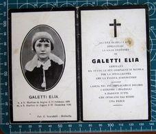 Necrologio Luttino - GALETTI ELIA  Bambino (nascita 1928 Morte 1936) San Martino Dell'Agine Mantova - Décès