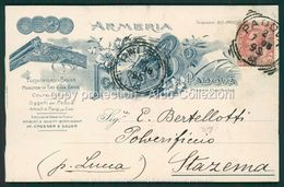Padova Cartolina Pubblicitaria Armeria Ignazio Bo FP P506 - Padova (Padua)