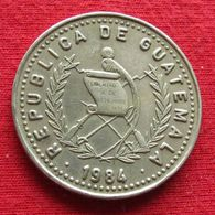Guatemala 25 Centavos 1984 KM# 278.3 Rare - Guatemala