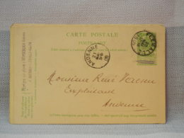 BELGIQUE - EP 5C VERT ARMOIRIES - OBLITERATION FLEMELLE ANDENNE 1906 - Entiers Postaux