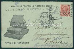 Padova Cartolina Pubblicitaria Rigatoria Vittorio Rietti FP P508 - Padova (Padua)