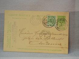BELGIQUE - EP 5C VERT ARMOIRIES + COMPLEMENT IDEM - BELLES OBLITERATION ANTWERPEN + ANDENNE 1912 - Postales [1909-34]