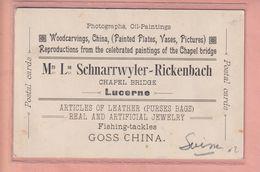 OUDE POSTKAART - ZWITSERLAND - SCHWEIZ - LUZERN - RECLAME - ADVERTISING - LU Lucerne