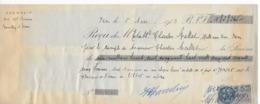 Reçu De 1953 Pour La Somme De 1.858.265 Francs Avec 13 Timbres Fiscaux Dont 11 De 100 Francs - Revenue Stamps