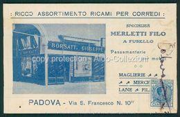 Padova Cartolina Pubblicitaria Ricami Per Corredi Borsatti Giuseppe FP P510 - Padova (Padua)