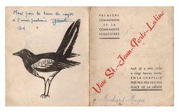 Menu Première Communion De La Commandite Séquestrée Vive St.-Jean-Porte-Latine En 1950 - Menus