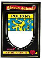 POLIGNY - BLASON ADHESIF - As De Coeur - Poligny