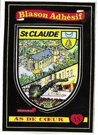 SAINT CLAUDE - BLASON ADHESIF - As De Coeur - Saint Claude