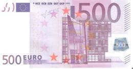 Billete De 500 EURO ALEMANIA (X) R017 - EURO