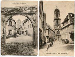 LOT 2 CP * SCHLESTADT Rue De Bornert & SELESTAT Eglise Saint Georges - Selestat