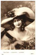 Tableau Peintre E - D Enjolras, Lucienne (femme Chapeau - Peintures & Tableaux