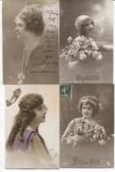 CPA - FANTAISIE - Portrait De FEMME ... - Lot De 4 Cartes - Edition .... - Femmes