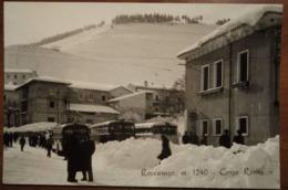 Roccaraso (L'Acquila) - Corso Roma - 1956 - Viaggiata - Animata, Pullman, Corriera, Bus - Italy