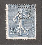 Perfin/perforé/lochung France No 132 C.B. Cie De Béthune - Gezähnt (Perforiert/Gezähnt)