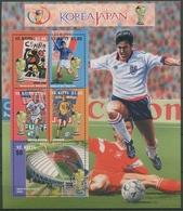 St. Kitts 2002 Fußball-WM Japan Korea Block 45 Postfrisch (C93813) - St.Kitts-et-Nevis ( 1983-...)