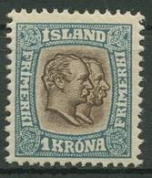 Island 1907 König Christian IX. Und König Frederik VIII. 60 Mit Falz - 1873-1918 Deense Afhankelijkheid