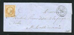Belle Lettre De Villaines La Juhel ( Mayenne 1860 ) Pour St Martin De Connée Avec Un N° 13A - Cachet PC 3585 - 1849-1876: Période Classique