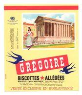 Buvard Grégoire Biscottes Allégées - La Maison Carrée De Nîmes - Format : 21x18 Cm - Zwieback