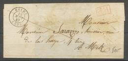 1847 Lettre En PP CAD T15 DELME MEURTHE (52) TB. X1623 - 1801-1848: Voorlopers XIX
