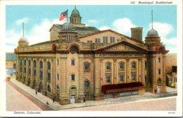Colorado Denver Municipal Auditorium Curteich - Denver
