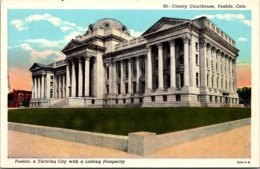 Colorado Pueblo County Court House Curteich - Pueblo