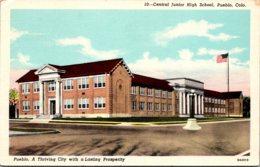 Colorado Pueblo Central Junior High School Curteich - Pueblo
