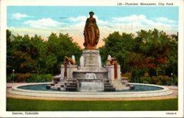 Colorado Denver City Park Thatcher Monument 1943 - Denver