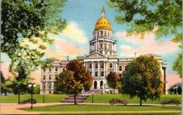 Colorado Denver State Capitol Building 1946 Curteich - Denver