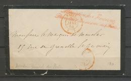 1864 Env. Griffe Ministère Des Finances Directeur Général Des Postes X3035 - Postmark Collection (Covers)