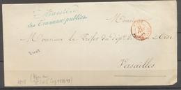 1848 Lettre Franchise Ministère Des Travaux Publics N°4497. + Verif X3040 - Postmark Collection (Covers)