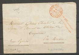 1860 Lettre Franchise Rouge Grand Chancelier De La Légion D'Honneur X3078 - Postmark Collection (Covers)