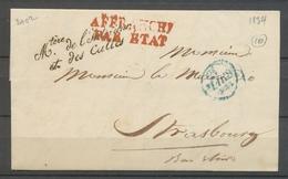 1834 Lettre Franchise Griffe Mtère De L'intérieur Et Des Cultes Superbe X3102 - Postmark Collection (Covers)