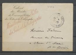 1908 Franchise Griffe Ministre Des Travaux Publics Des Postes Télégraphes X3105 - Postmark Collection (Covers)