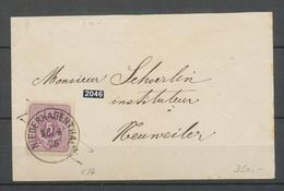 1875 Enveloppe à 5 Pfenig Rose Obl CAD NIEDERHAGENTHAL Alsace Lorraine X3109 - Marcofilia (sobres)