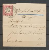 1874 Lettre à 1Groschen Obl MAURSMUNSTER Alsace Lorraine Superbe X3110 - Marcofilia (sobres)