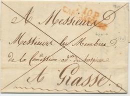 1821 AUDE Lettre Marque P10P CARCASSONNE 40*10mm Superbe X3191 - 1801-1848: Precursors XIX