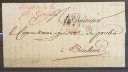 1817 Toulon Lettre En Franchise MINISTERE DE LA POLICE GENERALE Rouge X3219 - Postmark Collection (Covers)