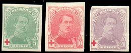 N°129/131 - SérieROI ALBERT CROIX-ROUGENON DENTELE. COB. 100 Euros. -TB - 15765 - Ungezähnt