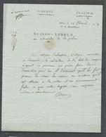 """An 8 Lettre Signée LEBRUN, 3eme Consul + """"salut Et Attachement"""" De Sa Main X4922 - Postmark Collection (Covers)"""