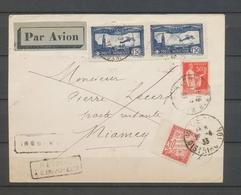 1933 Env. PARIS-NIAMEY, PA Paire N°6 + 50c, Taxe 30c, Arrivée NIAMEY, SUP X5182 - France (ex-colonies & Protectorats)