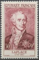 Célébrités Du XIIe Au XXe Siècles. Pierre Simon, Marquis De Laplace 30f. + 9f. Lie-de-vin. Neuf Luxe ** Y1031 - Nuevos