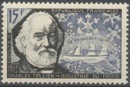 Inventeurs Et Chercheurs Célèbres. Charles Tellier Et Navire Frigorifique 15f. Noir Et Violet-noir. Neuf Luxe ** Y1056 - Unused Stamps
