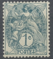 Type Blanc. 1c. Ardoise (IB) Neuf Luxe ** Y107a - Unused Stamps