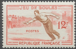 Jeux Traditionnels. Boules 12f. Rouge Et Brun-orange. Neuf Luxe ** Y1161 - Unused Stamps