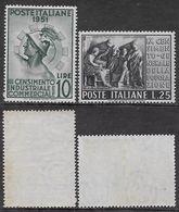 Italia Italy 1951 Censimento Sa N.675-676 Completa Nuova Integra MNH ** - 1946-60: Nieuw/plakker