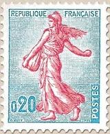 Type Semeuse. Type I : Présence De Deux Taches Parasites Entre 0 Et 2. 20c. Turquoise Et Rose (I) Y1233 - Ungebraucht