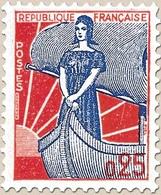 Type Marianne à La Nef. 25c. Bleu Et Rouge (I) Y1234 - Ungebraucht